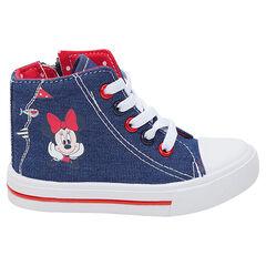 Zapatillas altas de tela de efecto vaquero Disney con estampado de Minnie