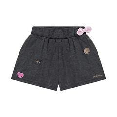 Falda-pantalón corto de punto con estampado de Smiley