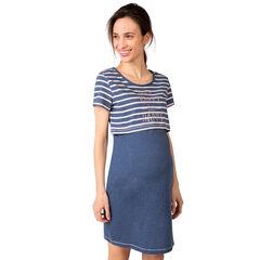 Camisa de noche efecto 2 en 1 de embarazo y lactancia
