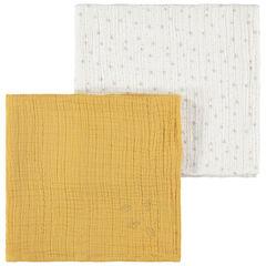 Conjunto de 2 muselinas 70 x 70 lisa/estampado , Prémaman