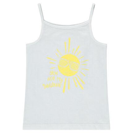 Camiseta de punto con sol estampado