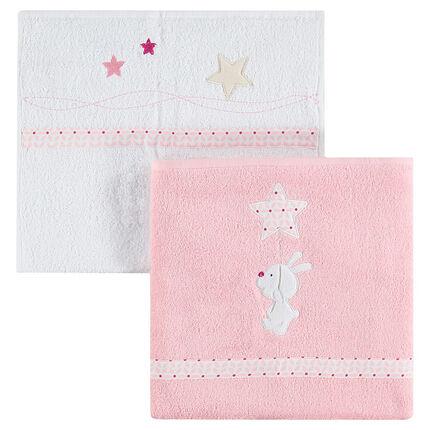 Lote de 2 toalla con bordado
