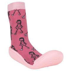 Zapatillas con estampado con fantasía suela de goma