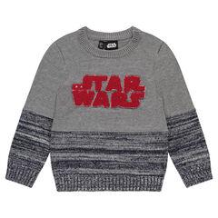 Jersey de punto con inscripción de buclé  Star Wars™