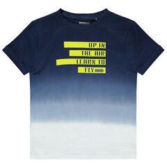 T-shirt effet tie and dye à inscriptions printées