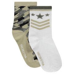 Pack de 2 pares de calcetines estilo militar