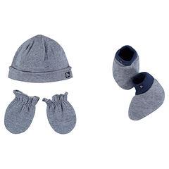 Conjunto de gorro, manoplas y calcetines de punto