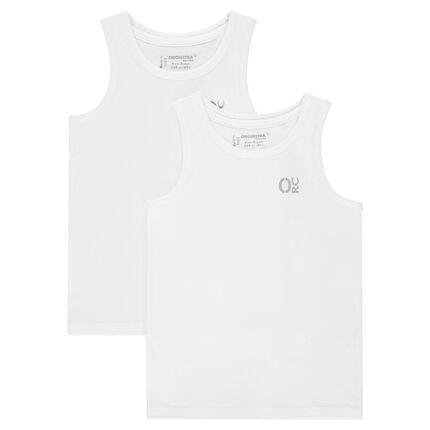 Lote de 2 tops de tirantes de algodón camisetas interiores con estampado