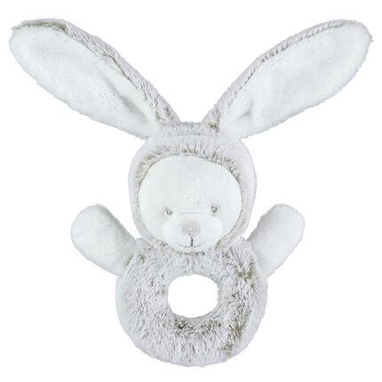 Sonajero de borreguillo en forma de conejo