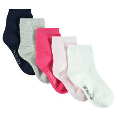 Lote de 5 pares de calcetines de color liso