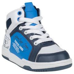 Zapatillas de deporte de caña alta con cordones con cremallera con motivos estampados