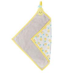 Peluche cuadrado de algodón de toalla y tela con frutas estampadas