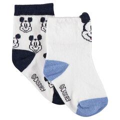 Juego de 2 pares de calcetines variado de Mickey de ©Disney en jácquard