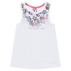 Camiseta de jersey con flores estampadas
