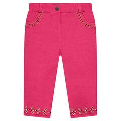 Pantalón de pana de terciopelo con bordados