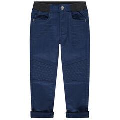 Pantalón de tela elástica en la cintura