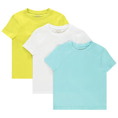 lote de 3 camisetas lisos en algodon bio , Orchestra