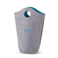 Sac à jouets 31 x 32 x 72 cm Feutre gris turquoise
