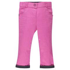 Pantalón de Twill liso con forro de puntos