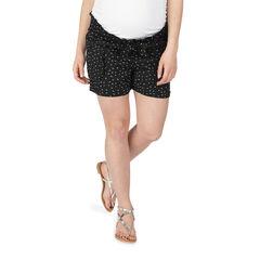Pantalón corto de premamá con microestampado all over