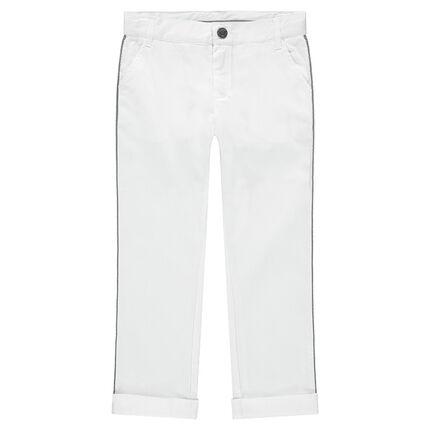 Pantalón blanco de algodón de fantasía de gala