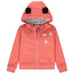 Chaqueta de felpa con capucha y bordados de Minnie Disney