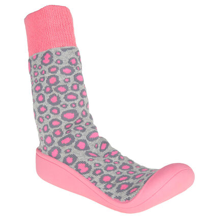 Chaussons chaussettes à imprimé panthère