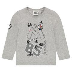 Camiseta de punto de manga larga de Super Mario™ con parches bordados