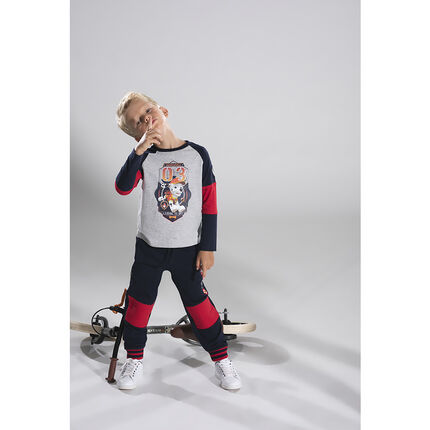 Camiseta de manga larga de tres colores con estampado de Marshall de Patrulla Canina Nickelodeon™
