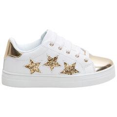 Zapatillas bajas con aplicaciones doradas y estrellas brillantes
