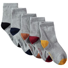 Juego de 5 pares de calcetines con punta y talones que contrastan