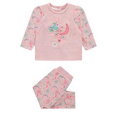 Pijama de terciopelo con dibujo de flores
