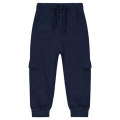 Pantalón de jogging de felpa con amplios bolsillos