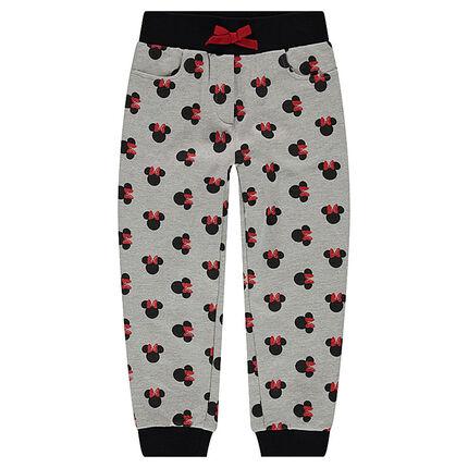 Pantalón de chándal de felpa con dibujode Minnie ©Disney all over