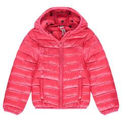 Anorak light*, impermeable y acolchado con capucha y bolsa de almacenamiento estampada