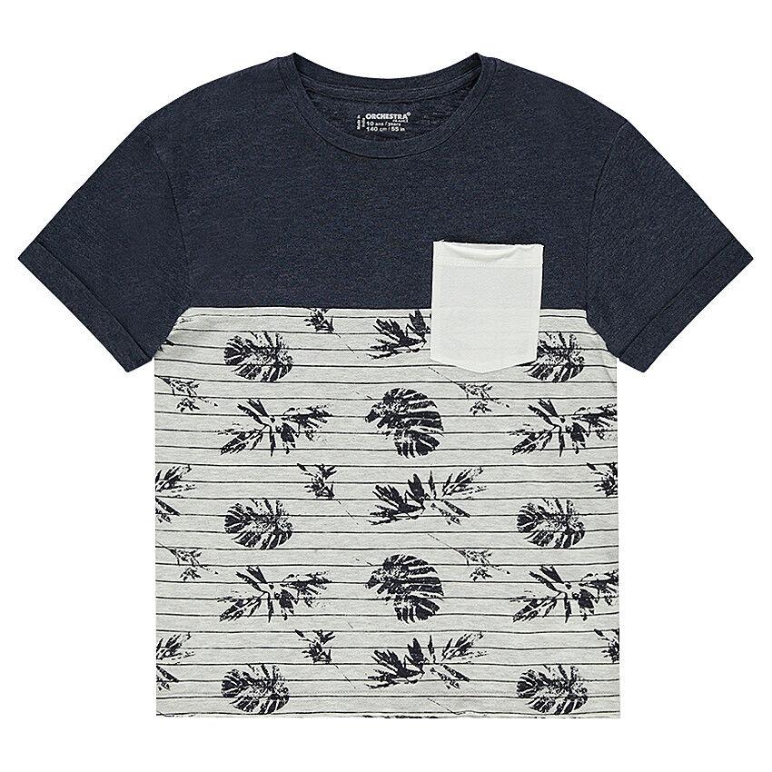 Júnior - Camiseta de manga corta bicolor de punto con bolsillo