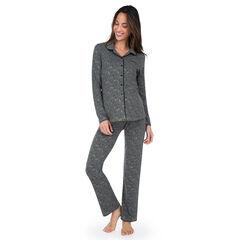 Pijama de embarazada con camisón y pantalón estampados all over