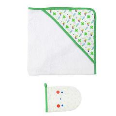 Set de baño de toall con dibujo de cactus