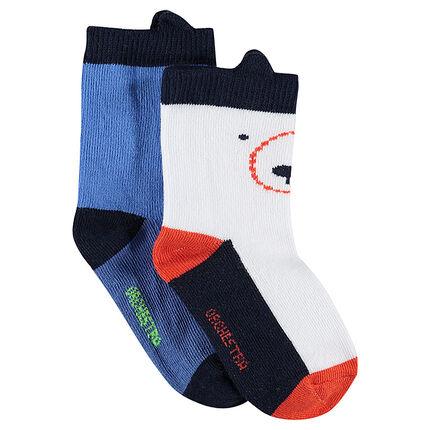 Juego de 2 pares de calcetines con orejas de relieve