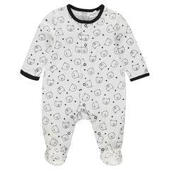 Pijama de punto con ositos estampados all over