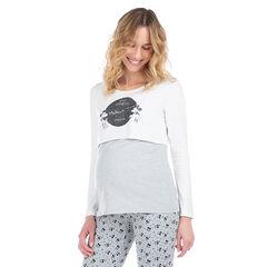 Camiseta de manga larga con efecto 2 en 1 y estampado de Mickey y Minnie ©Disney