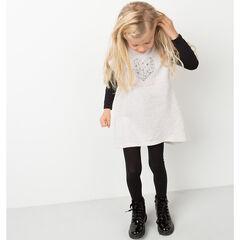 Vestido de manga corta de felpa con estampado de corazón y mariposa
