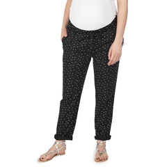 Pantalón de premamá con microestampados y bolsillos con cremallera
