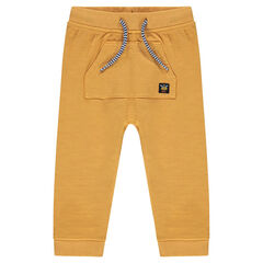 Pantalón de muletón con bolsillo de canguro
