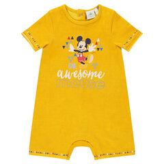 Mono corto Disney de punto con estampado de Mickey