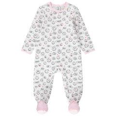 Pijama de punto con Smiley estampado all over