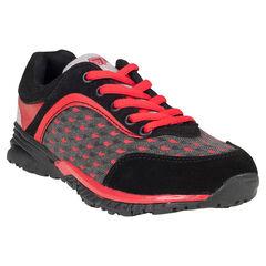 Zapatillas de deporte de caña baja con cordones contrastados con motivo