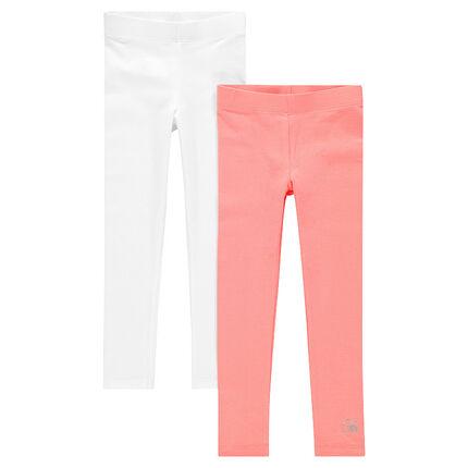 Junto de 2 leggings de color uniforme