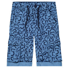 Bermudas de algodón con estampado de letras all over y bolsillos