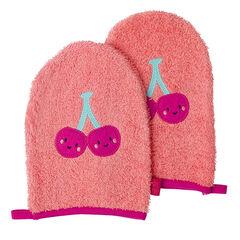 Juego de 2 guantes de baño con parches de frutas , Prémaman